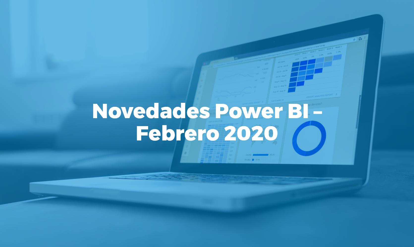 Novedades Power BI febrero 2020