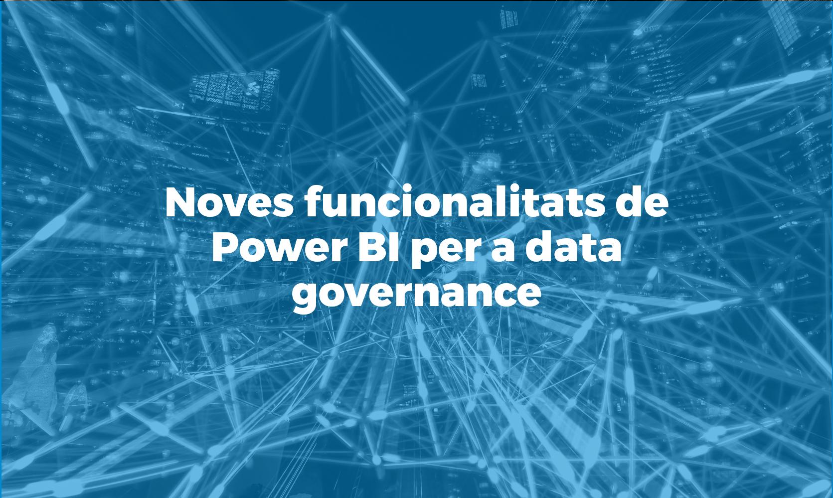 Power BI per a data governance